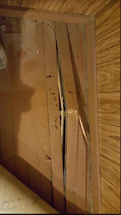 upstairs floor boards broken